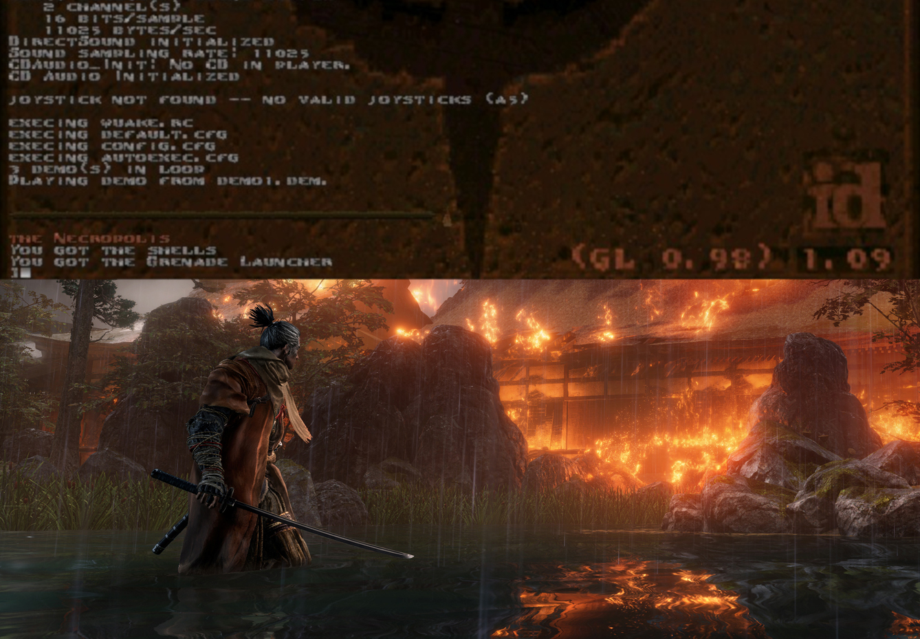 Why anyone whining about adding easy mode to Sekiro played Quake on